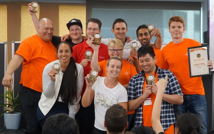 The winning team, Genesis Energy Hackathon