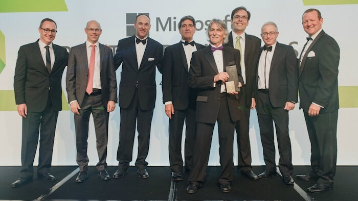 Theta team winning ERP award at Microsoft NZ Partner Awards