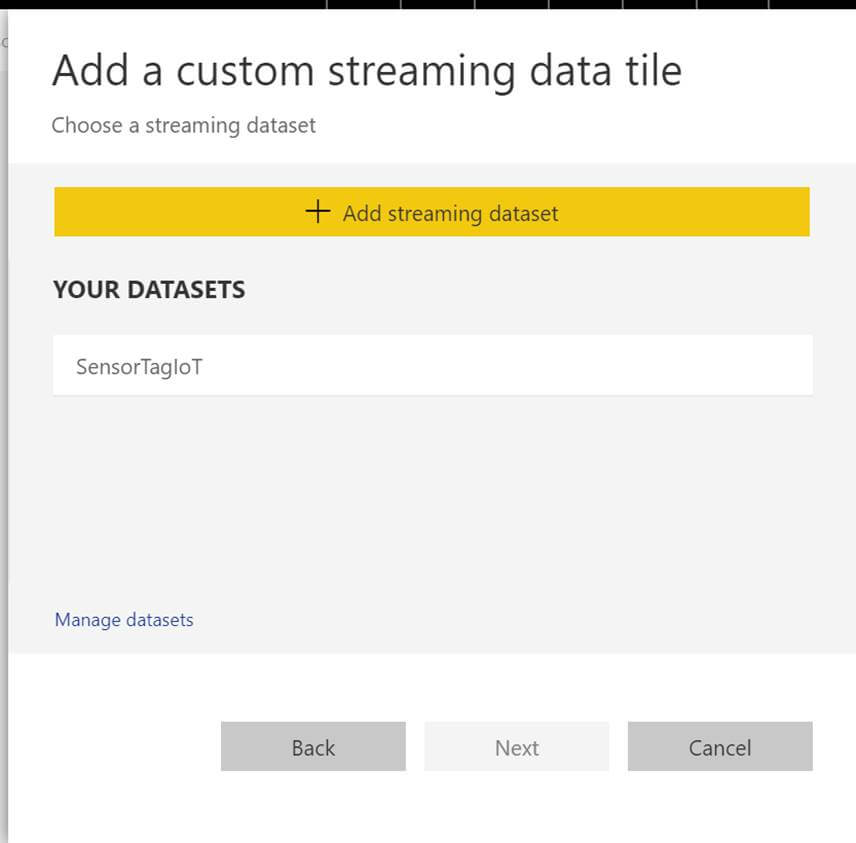add custom streaming data tile