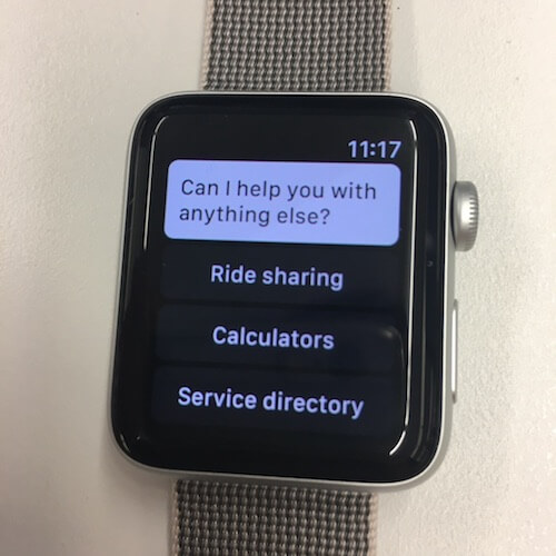 bot on apple watch